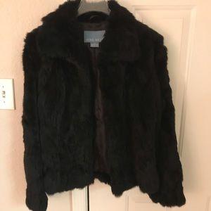 Nine West 100% Rabbit Fur Jacket Medium EXCELLENT